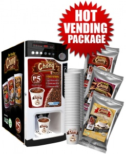 Hot Vending Package (Coin-Operated with Auto Cup Dispensing)