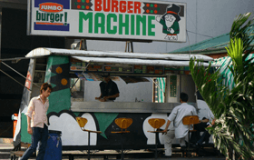 Chong Cafe Vending Machine Franchise Outlets Burger Machine