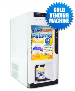 Cold Vending Machine Only (Coin-Operated with Auto Cup Dispensing)