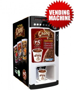 Hot Vending Machine Only (Coin-Operated with Auto-Cup Dispensing)