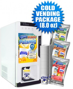 Cold Vending Package (Coin-Operated with Auto Cup Dispensing) - 8.0 oz