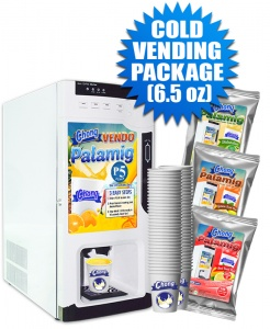 Cold Vending Package (Coin-Operated with Auto Cup Dispensing) - 6.5 oz